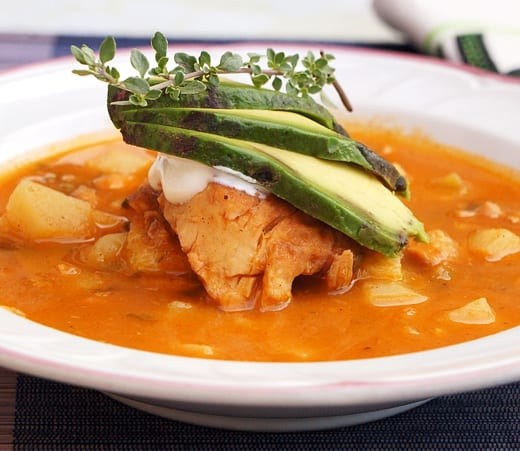Cajun Tilapia Soup with Polenta