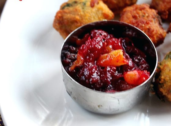 Spiced Cranberry and Apricot Chutney