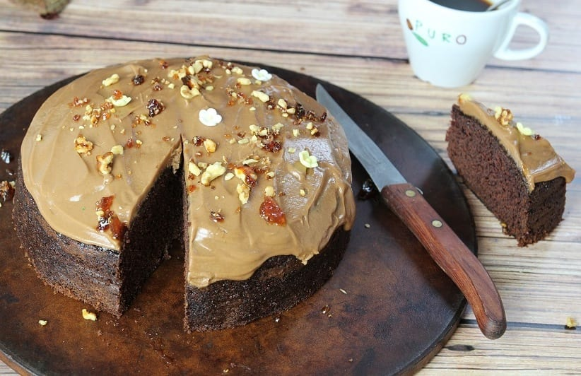 Chocolate Coffee Cake With Coffee Icing Recipe By Tania Cusack