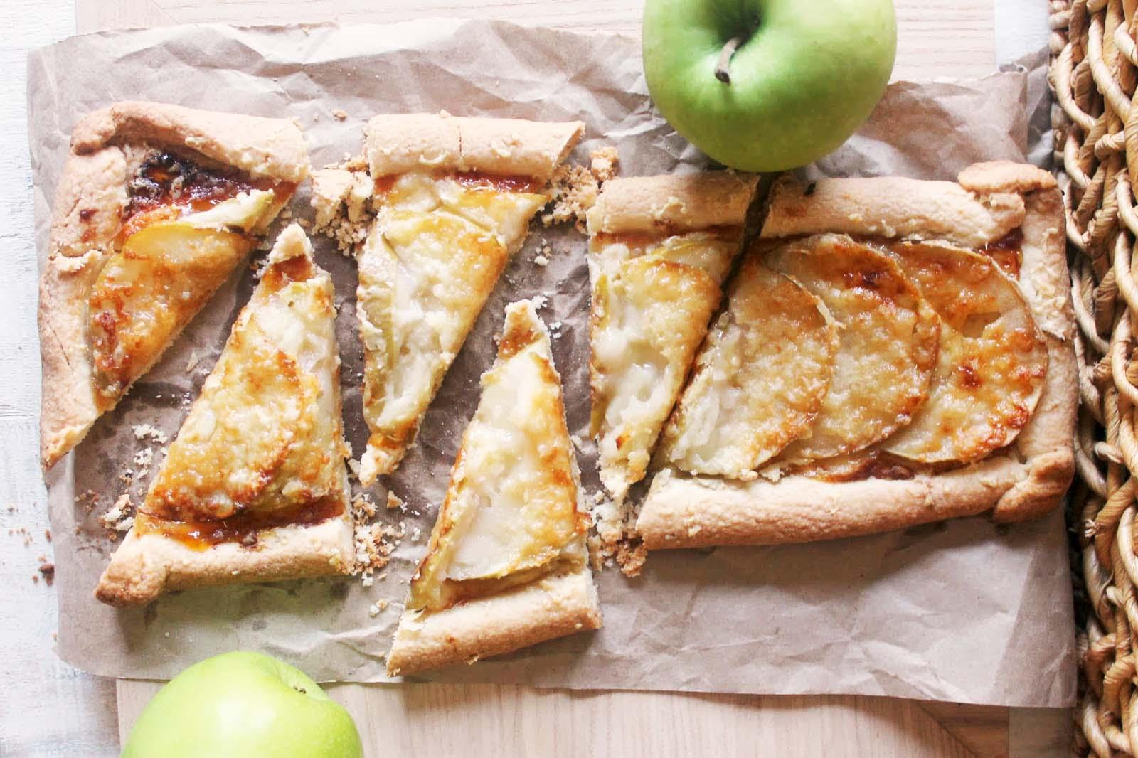 Apple-Cheddar Galette