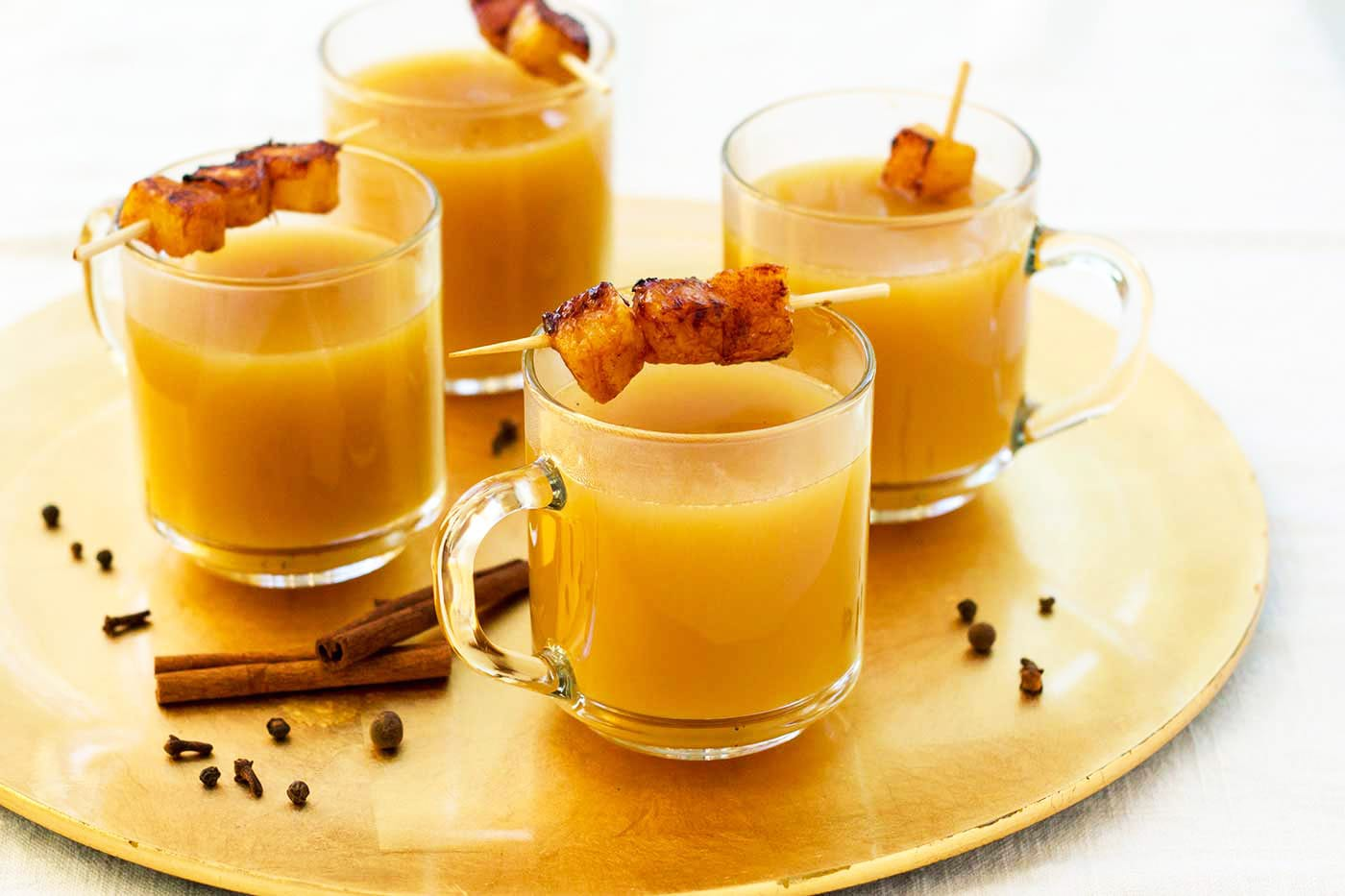 Mulled Pineapple Cocktail