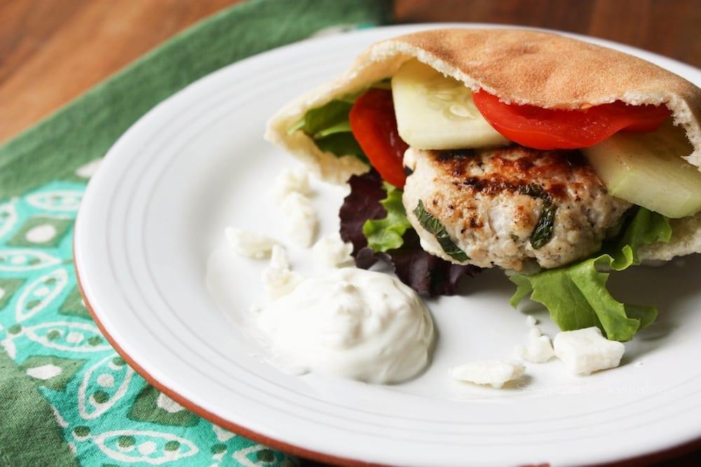 Ground Turkey Greek Burger