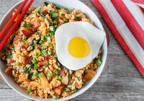 Kimchi and Bacon Fried Rice