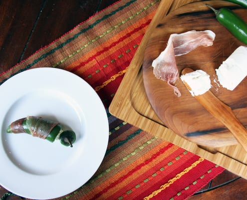 Prosciutto-Wrapped Goat Cheese-Stuffed Jalapeno Poppers