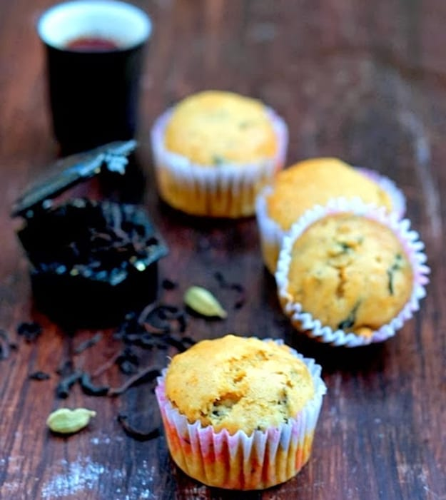 Chai Cardamom Muffins