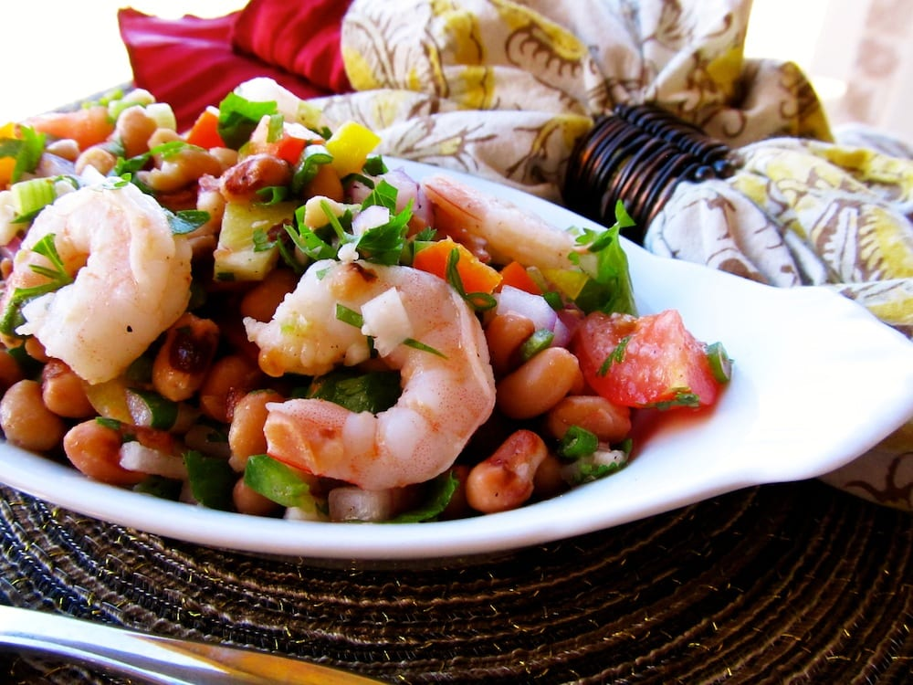 Spicy Shrimp and Black Eyed Pea Salad
