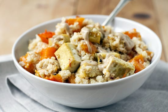 Roasted Millet with Butternut Squash and Tofu