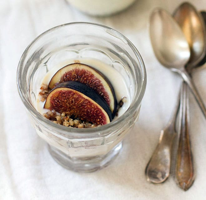 Fig, Yoghurt and Vanilla Crumble Parfait