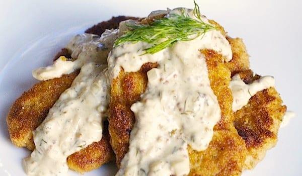 Pork Tenderloin Schnitzel with Altbier Mustard Sauce