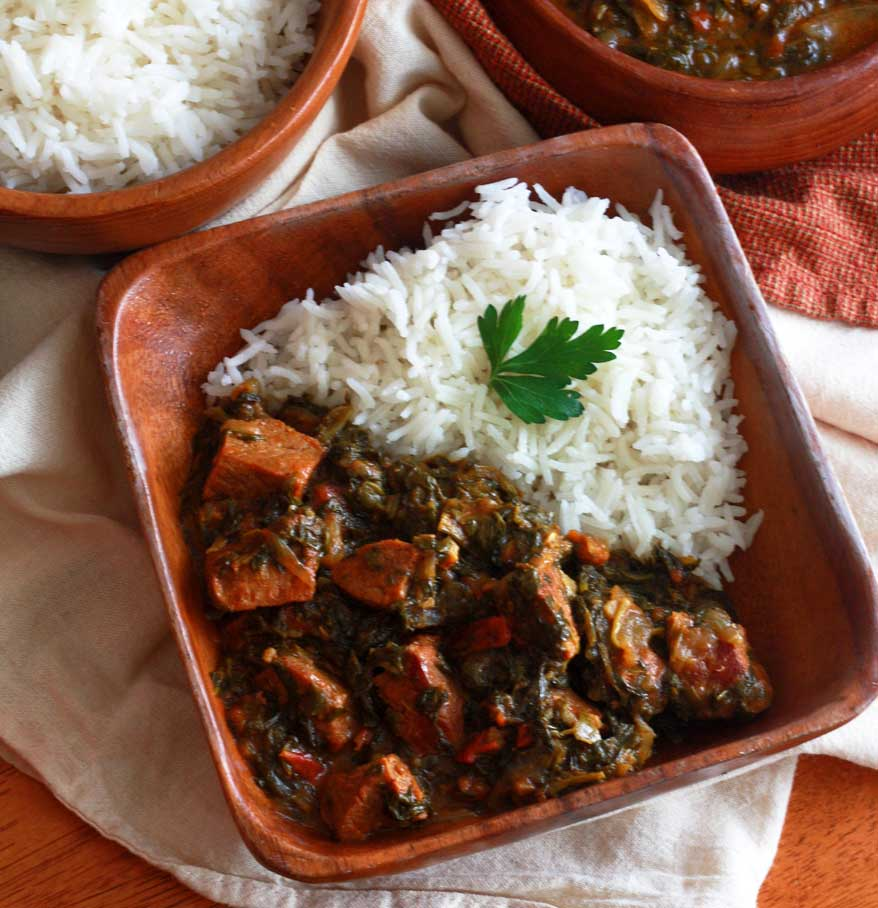 Saag Gosht: Punjabi Beef and Spinach Curry