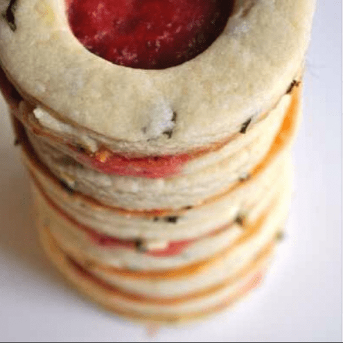 These beauts are strawberry basil window cookies. Amaaaaazing cookies. http://www.lizzypancakes.com/2013/06/strawberry-basil-window-cookies.html?m=1