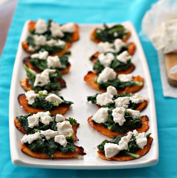 Sweet Potato, Kale and Goat Cheese Bites