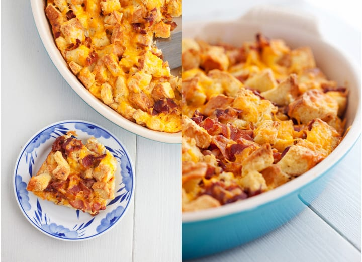 Bacon & Cheese Breakfast Bread Pudding