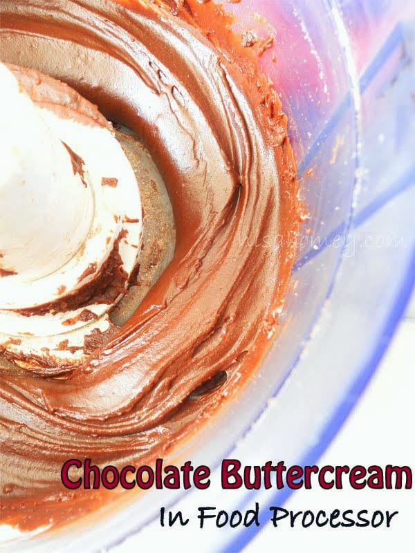 How to Make Chocolate Buttercream In a Food Processor