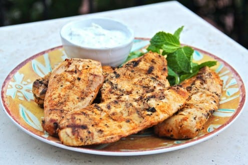 Indian Spiced Chicken with Raita Sauce
