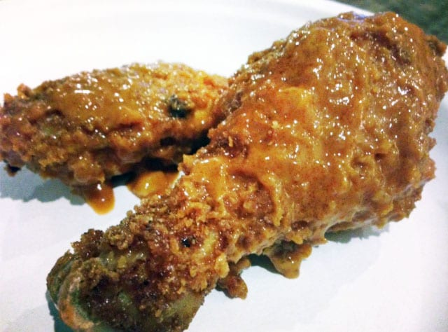 Peanut Butter Panko-Crusted Chicken Wings