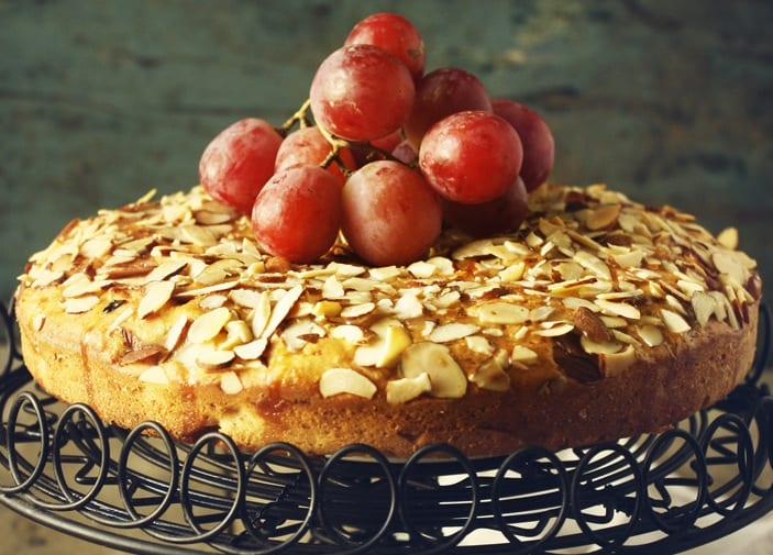 Lemon-Glazed Yogurt and Almond Cake
