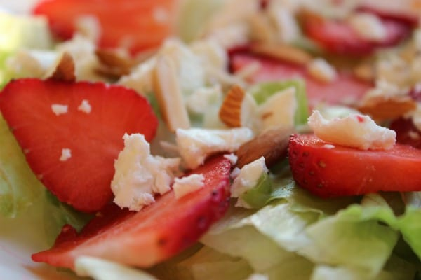 Strawberry Salad with Feta Cheese