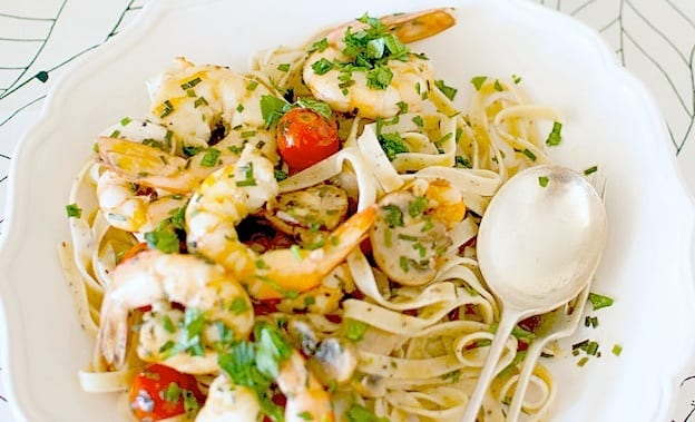 Prawn And Wattleseed Fettuccine Recipe by Maria Laitinen