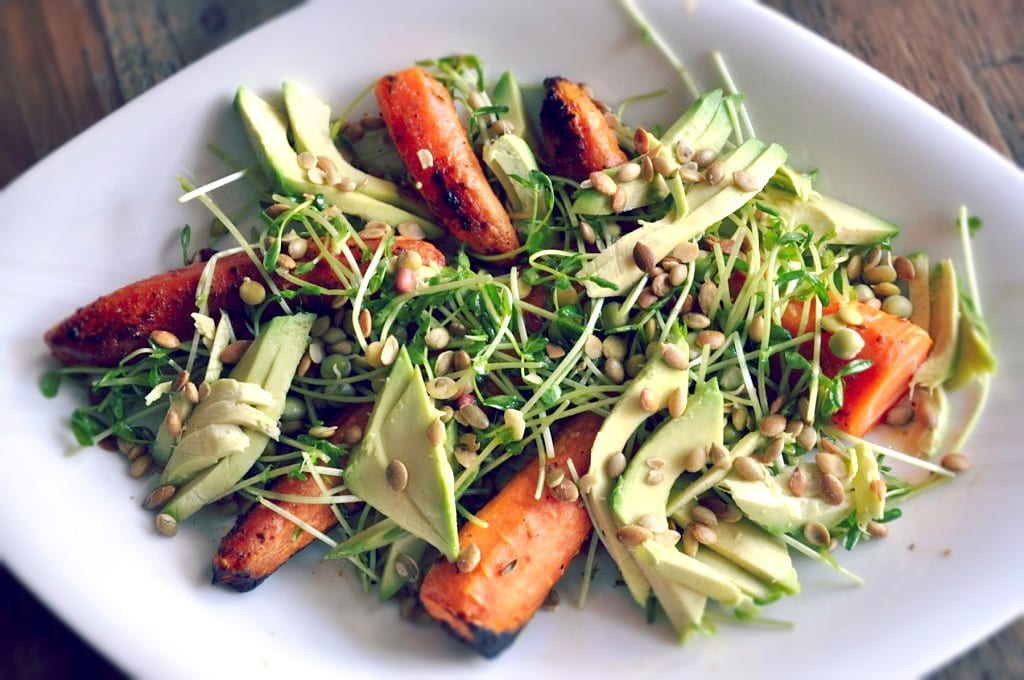 Roasted Carrot Avocado Salad Recipe