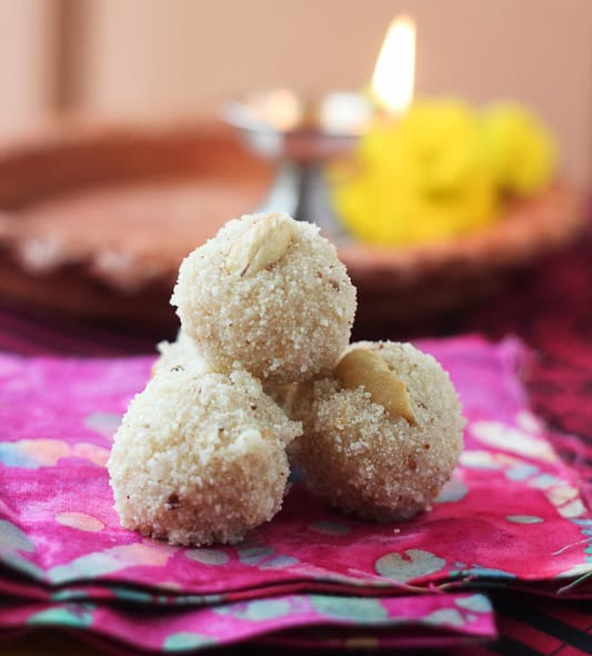 Simple Indian Coconut & Raisin Laddu recipe
