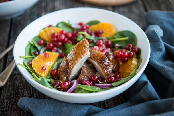 Duck, Orange and Pomegranate Salad recipe