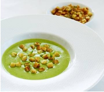 Thomas keller pea soup