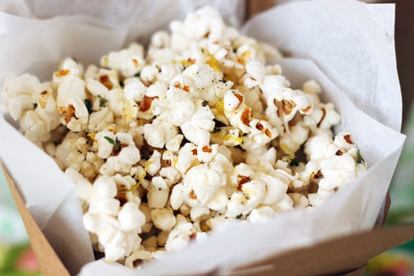 Cheesy Lemon Thyme Popcorn Recipe