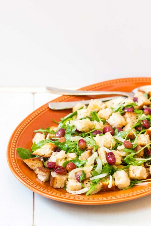 Roasted Grape Panzanella Salad Recipe