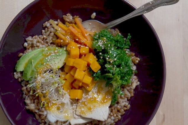 Whole Grain Vegetable Bowl Recipe