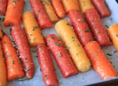 Roasted Honey & Rosemary Carrots Recipe