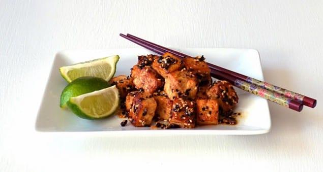 Honey Sesame Tofu with Sriracha and Fresh Lime recipe