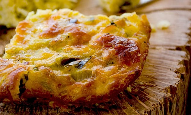 Oven-Baked Leek Frittata is a wonderful dish to use up leftover leeks ...