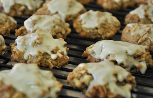 Oat Pecan Cookies with Whiskey Frosting recipe