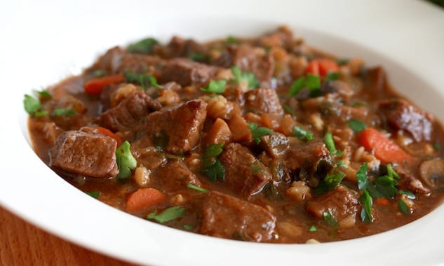 beef & barley stew recipe