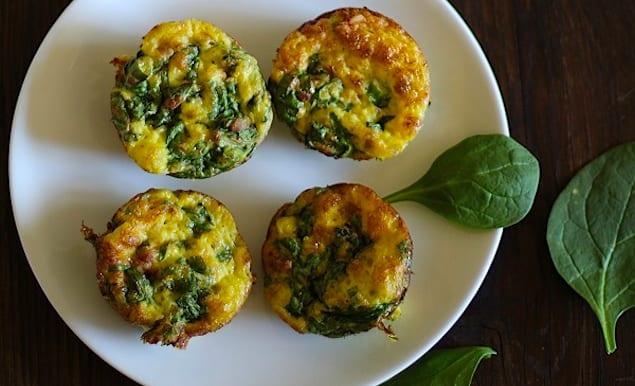 Spinach-Prosciutto-Frittatas