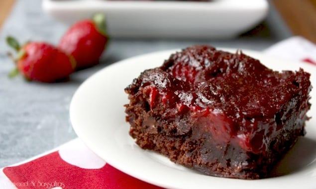 Strawberry Balsamic Brownies