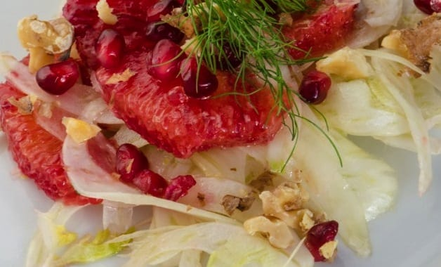 Fennel, orange, pomegranate salad recipe