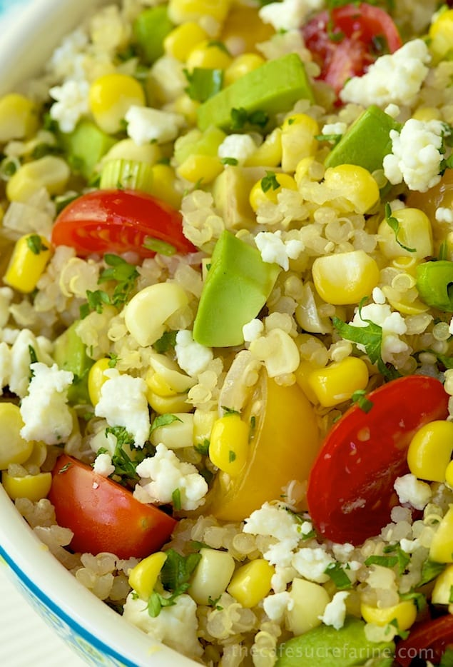 Quinoa With Corn, Tomatoes, Avocado, And Lime Recipes ...
