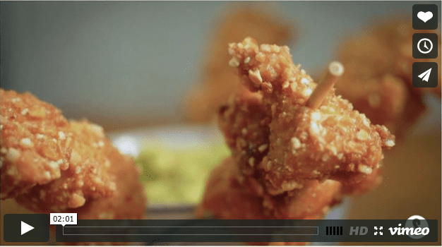 Corn Fried Chicken with Guacamole
