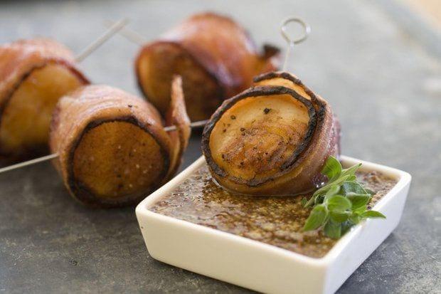 bacon scallop