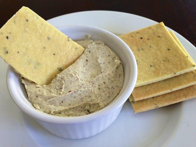 ... -Garlic-Basil-Cheese-Dip-and-Homemade-Gluten-Free-Basil-Crackers