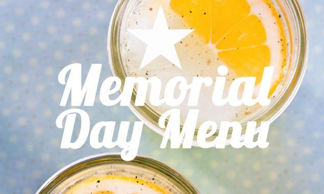 memorial day menu