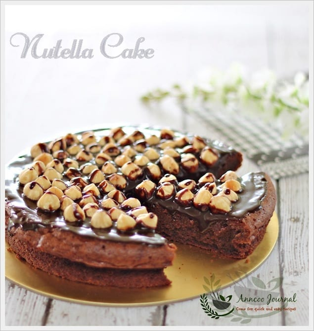 Double Chocolate Nutella Cake