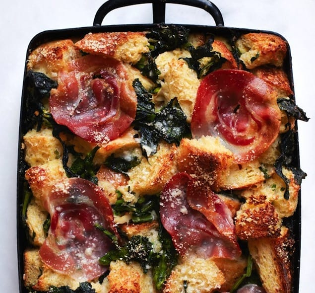 parmesan-bread-pudding-with-broccoli-rabe-and-pancetta-646-646x600