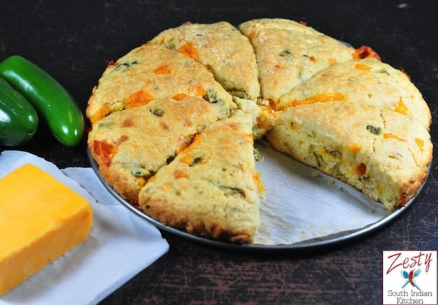 Jalapeño Cheddar and Cumin Scones – Honest Cooking