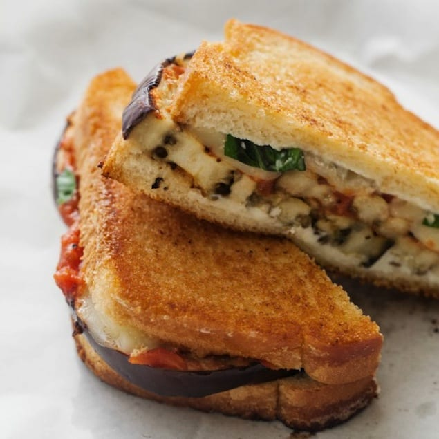 Grilled Eggplant Parmesan Sandwich Recipe — Dishmaps