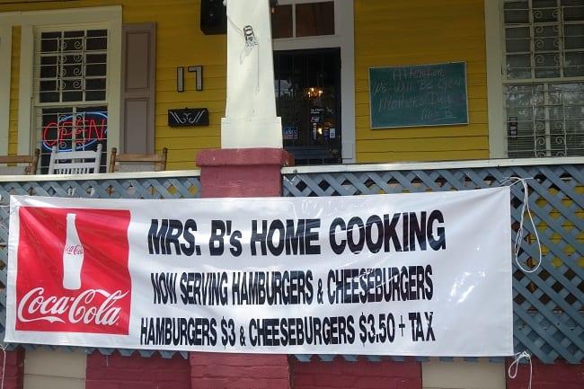 Mrs. B's homey restaurant