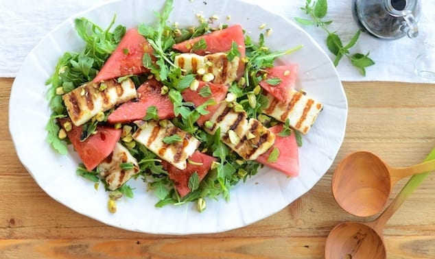 Watermelon-salad-with-Grilled-Haloumi