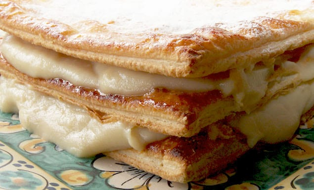 Millefeuille with custard-photo by. g. giustolisi